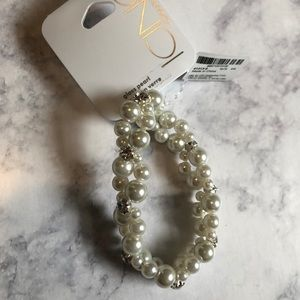 Icing pearl and rhinestone bracelet